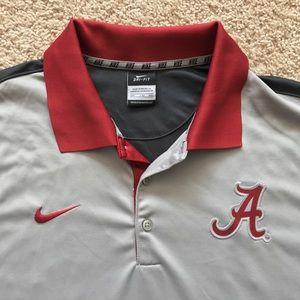 Nike Shirts - Nike Alabama Crimson Tide Dri Fit polo shirt 2XL